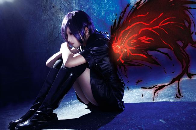 Cool Tokyo Ghoul Touka Kirishima Cosplay in Black Suit ...